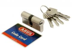 Cylinder D10MM ABUS 30/35  pearl nickel 5.2 class