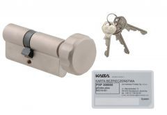 Kaba Gege pExtra plus cylinder 40K/30 with knob, Nickel , 6.2 C class