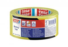 Warning Tape TESA PVC length 33m, width 50mm (60760-00093-15) - Black