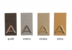 Letter self-adhesive 4.5 cm graphite badge