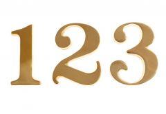 10cm Brass number TIFFANY
