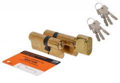 Cylinder SET HEKTOR WPH02G02 30knob/40+30/40 brass 6keys