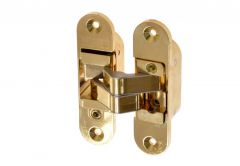 Invisible Hinge Large, Right - Brass