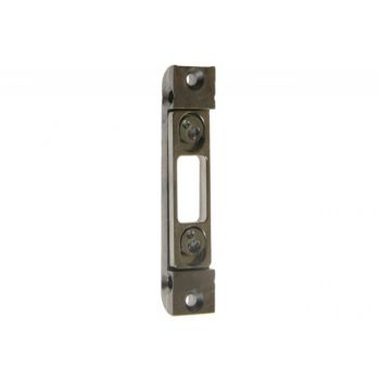 Striking Plate for bolt for wooden door frame, Galvanized Silver