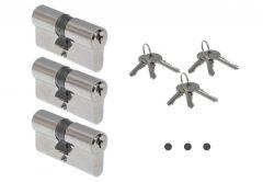 Cylinder ABUS E45N 40/40 nickel KA01, key alike