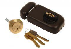 Rim Lock ZSW 3 Keys - Brown Varnish