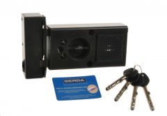Rim Lock GERDA TYTAN  ZE-1 WL certificated C Class, 4x keys with Fixing Elements (for left doors opened from the inside)