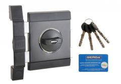 Rim Lock GERDA TYTAN ZX Certificate C Class, 4x keys without Fixing El