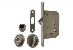Mortise Lock for sliding doors with fitcangs, OS, Satin- Chrome, WC