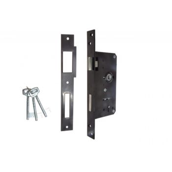 Gate Mortise Lock 90/63,5 BB, Right - Varnish