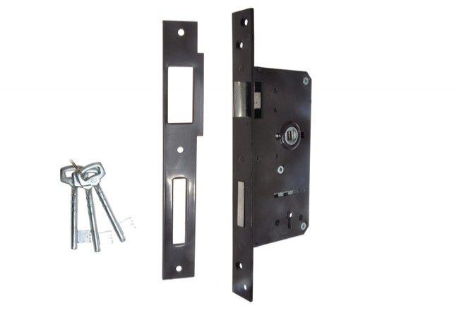 Gate Mortise Lock 90/63,5 BB, Right - Varnish