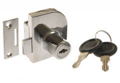 Cam Lock X-917 for glassed door, double, Chrome