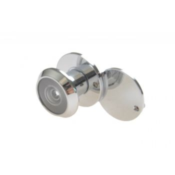 Peephole, Diameter: 4-14 15-25 mm - Chrome (viewing angle: 130)
