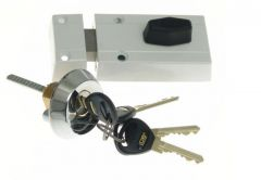 Rim Lock LOB TC11 TAURUS 1 Certificate, C Class, White