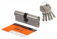 Cylinder LOBIX XT WP600 30/35 matte nickel, 5 keys, blister pack