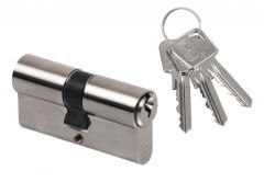 Cylinder lock LOB ARES WA54 40/60 nickel