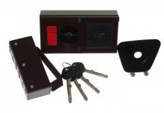 Rim Lock GERDA TYTAN  ZE-1 WP certificated C Class, 4x keys with Fixing Elements (for right doors opened from the inside)