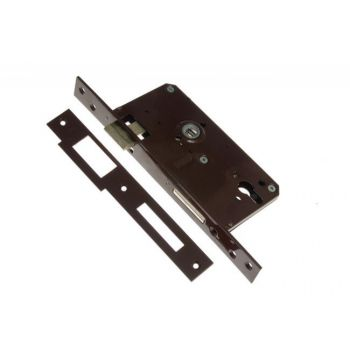 Gate Mortise Lock 90/63,5 PZ, Left - Varnish