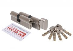 Cylinder Set HUSAR S8 50/40 + 50K/40 nickel satin cl. C, 6 keys