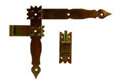 Shutter Angular Hinge with Hook - Galvanized (1piece)