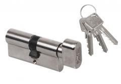 Cylinder lock LOB ARES WG54 30K/40 with knob, nickel