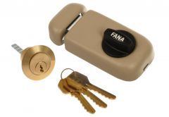 Rim Lock ZSW 3 Keys - Beige Varnish