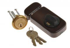 Rim Lock LOB TB61 Brown