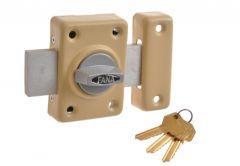 Rim Lock ZDD 3 keys   Beige