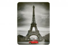 Cabinet for Keys, Pattern 1 - Black (Eiffle Tower with car)