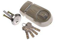 Rim Lock YALE Y2D Nickel Satin, Drilled Key