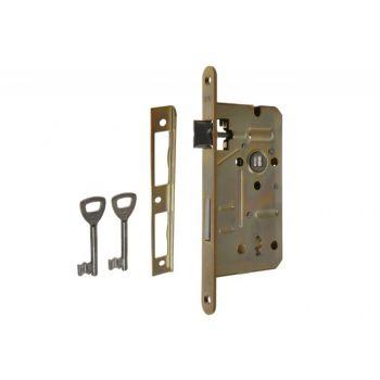 Mortise Lock LOB 72/55, BB - Galvanized Yellow