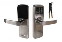 Electronic Door Handle DIGIT M5 with Code Panel - Nickel
