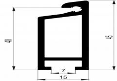 Doorsill LPD 15 L=3,5m - Aluminium
