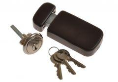 Rim Lock LOB LOB TB63 without knob, Brown