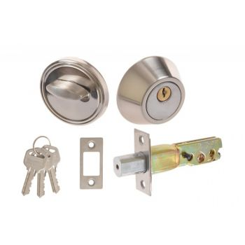 Extra Lock D101 for Chinese doors, Chrome, door thickness: 35-50mm