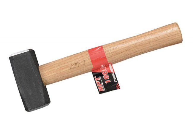 Stonemason's Hammer MPT 1kg, wooden handle MHD03001-1000