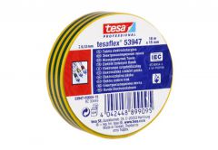 Insulating tape TESA   green-yellow   length 10m, width 15mm (53947-00