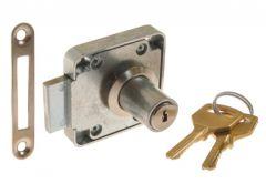 Furniture Lock LOB ZMB-4, Chrome