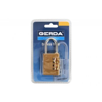 Combination Padlock with Open Shackle S30 - Brass (Blister Package)