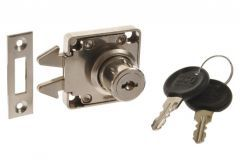 Furniture Lock, hook, for shutters X-855 (cylinder 19x22 mm)