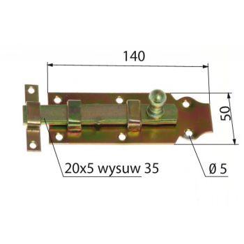 Straight Latch Bolt L-140mm (115401 3150254)