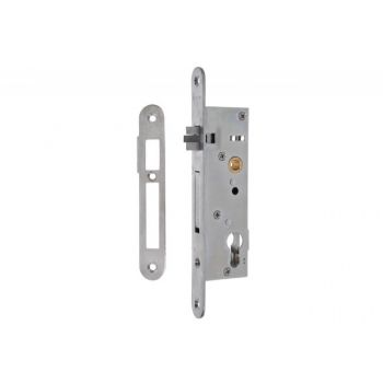 Narrow Profile Lock without cylinder 164-098 72/35, Chrome, Right