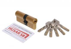 Cylinder HUSAR S8 30/30 brass cl. C, 6 keys