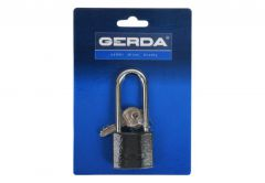 Cast Iron Latch Padlock with Lengthened Shackle IRON LINE S40H60, black, 3 keys (Blister Package)