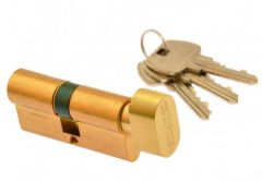 Cylinder lock Gerda E1 30K/35 with knob, brass