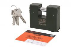 Padlock with Straight Shackle 80 GROM XT (KT611) 5.4 Class certificated