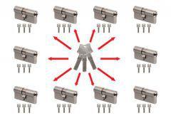 Master key system, key alike with Winkhaus N-tra cylinders  (30/30x10,
