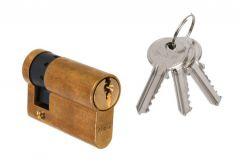 Cylinder DORMA DEC 150 10/30, brass 3 keys