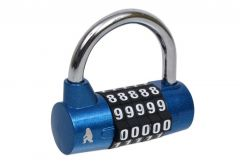 Combination, cylinder padlock KWSY lacquered, blue