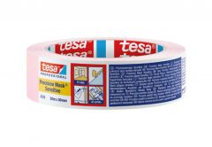 Tape TESA PREC MASK SENS 50m x 30mm, LI 601, light pink (04333-00019-0
